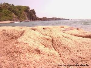 Pasir yang Sedang Berproses Menjadi Karang..
