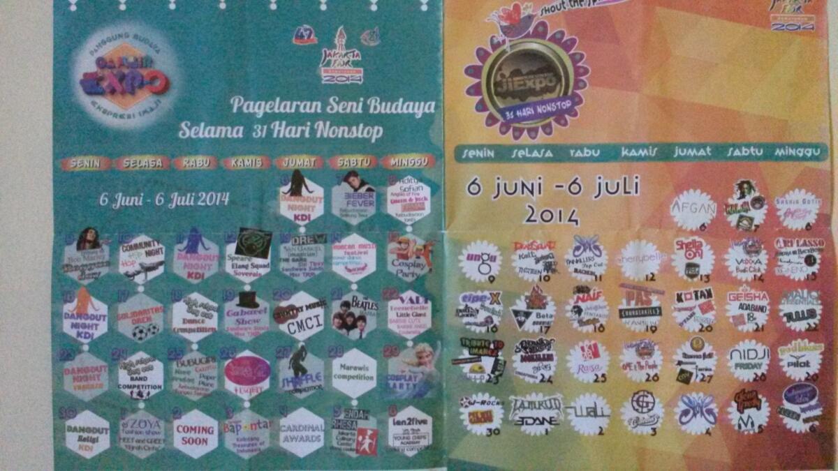 Jakarta Fair adalah sebuah event yang rutin digelar pemkot DKI setahun ...